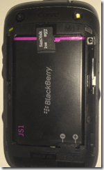 Blackberry Curve 9320  - MicroSD