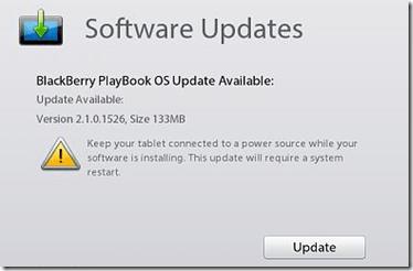 Playbook software update