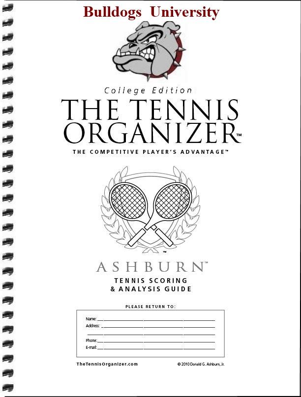 The Tennis Organizer ~ Best Tennis Score Book  Score Sheet Charting! - college organizer
