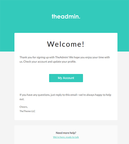 welcome card template