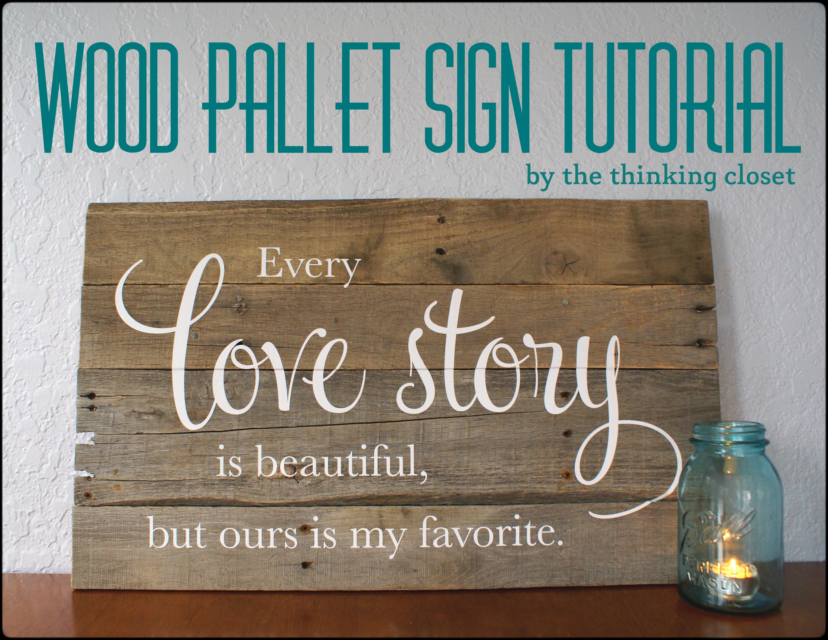 Wood Pallet Art Signs