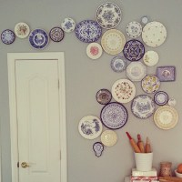 DIY Hanging Plate Wall Designs with Fine China, Fancy ...