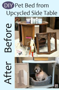 Fancy DIY Pet Bed From Upcycled Side Table