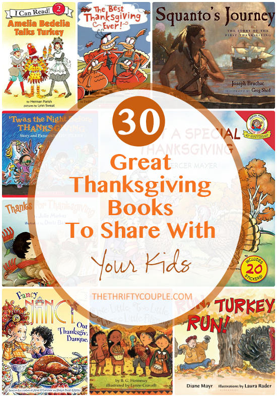 30 Great Thanksgiving Books To Share With Your Kids (Includes Free