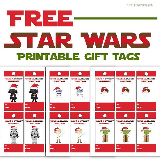 Free Star Wars Themed Printable Gift Tags