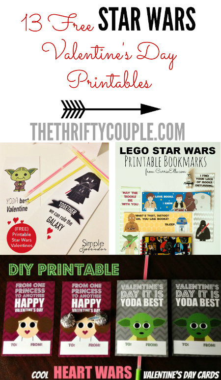 13 Out-Of-This-World Star Wars Valentine\u0027s Day Printables