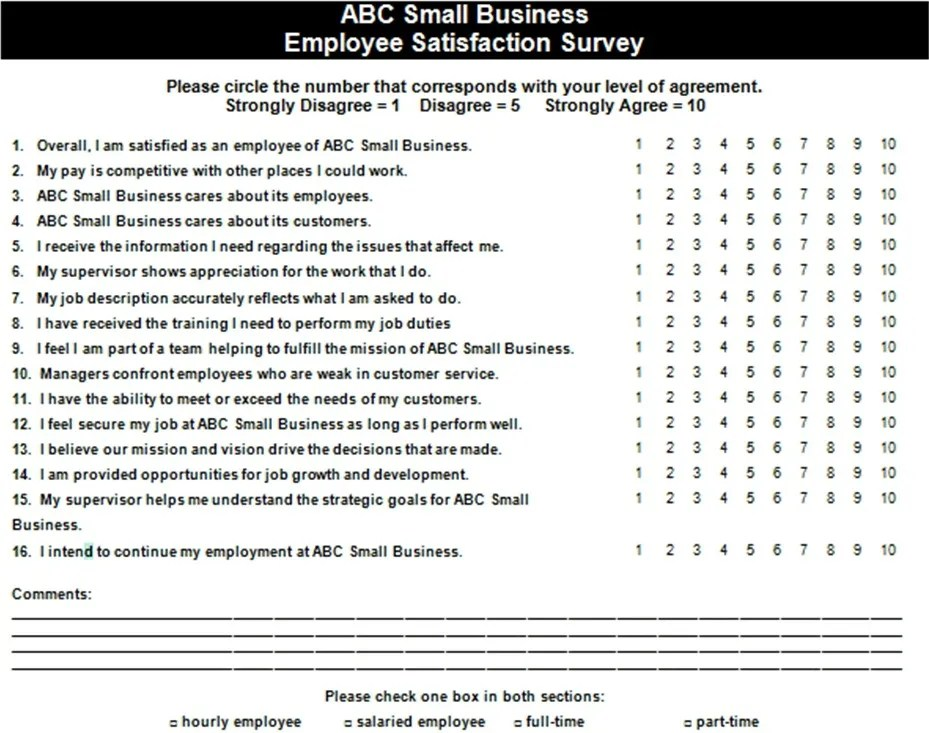 Survey Question Templates - site survey template