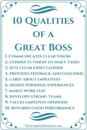 How to Be a Good Boss - 10 Qualities of a Good Boss - good worker qualities