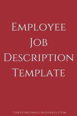 Job Description Template \u2013 The Thriving Small Business