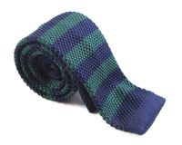 Bottle Green and Navy Knit Tie - Shop Mens Ties Online ...