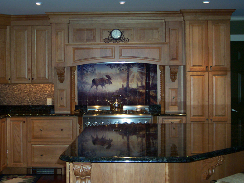 kitchen backsplash installed tile murals thetilemuralstore ceramic tile mural kitchen tiles