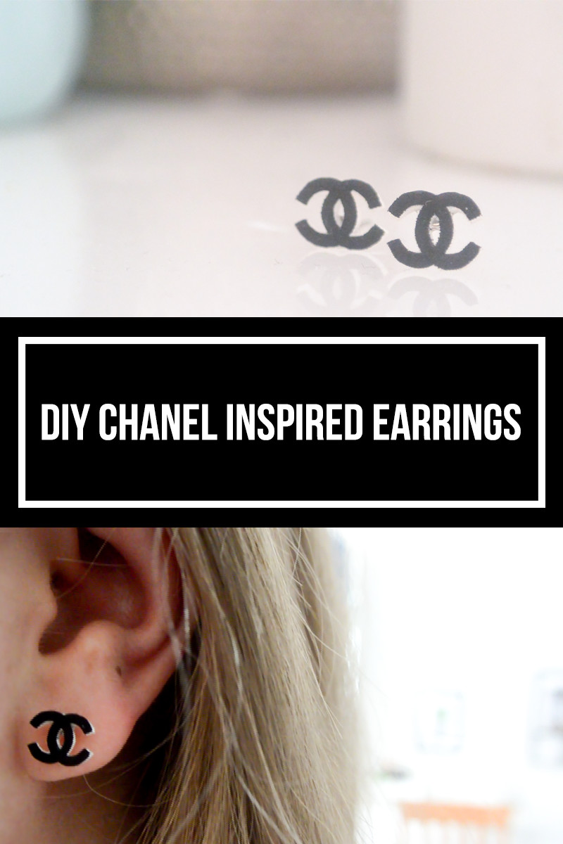 DIY Chanel Inspired Earrings  The Tiny Honeycomb