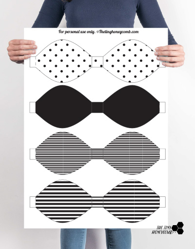 DIY Printable Paper Bow with Template \u2013 The Tiny Honeycomb