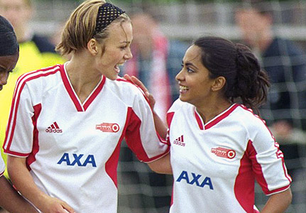 Jules and Jess on the pitch.