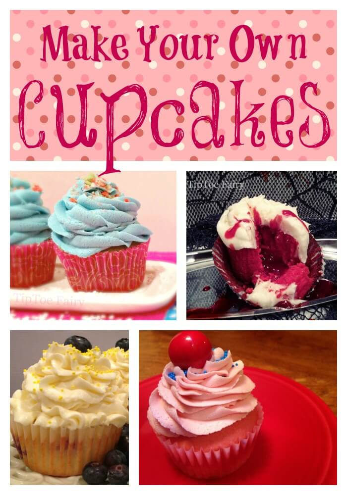 Basic White Cupcakes - with whipping cream   The TipToe Fairy