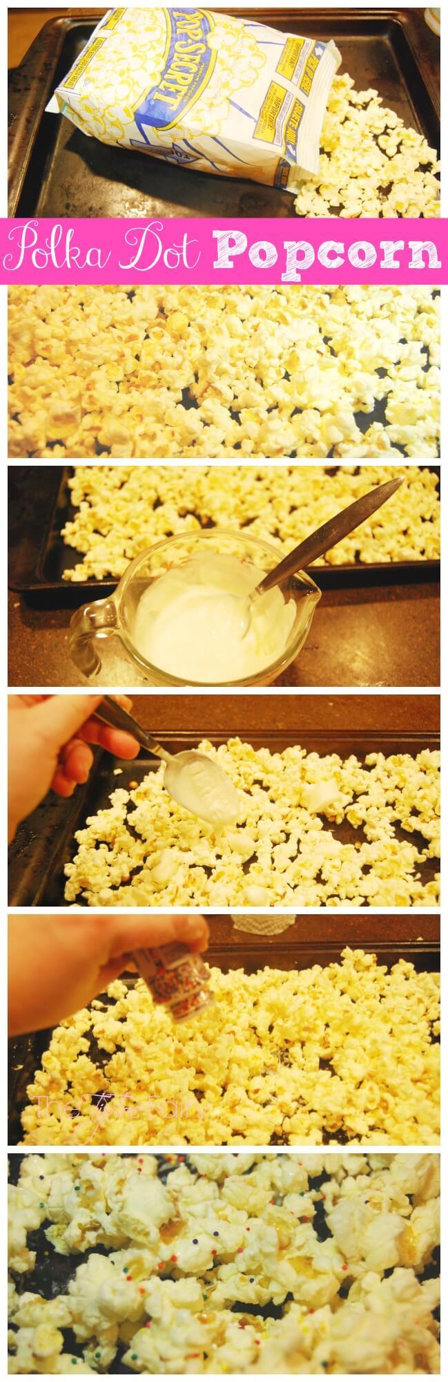 Use the Perfect Pop App to make some Polka Dot Popcorn | The TipToe Fairy #PerfectPop #GoodbyeBurnedPopcorn #sp #popcornrecipes