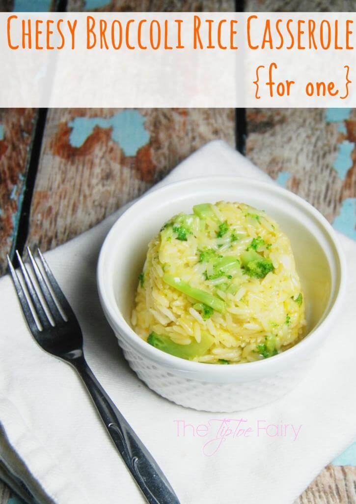 Cheesy Broccoli Rice Casserole for One