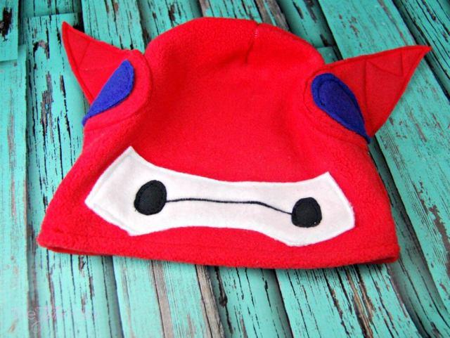 Big Hero 6 Baymax Fleece Hat Tutorial - come sewalong with me for the new Disney movie! | The TipToe Fairy #BigHero6Release #ad