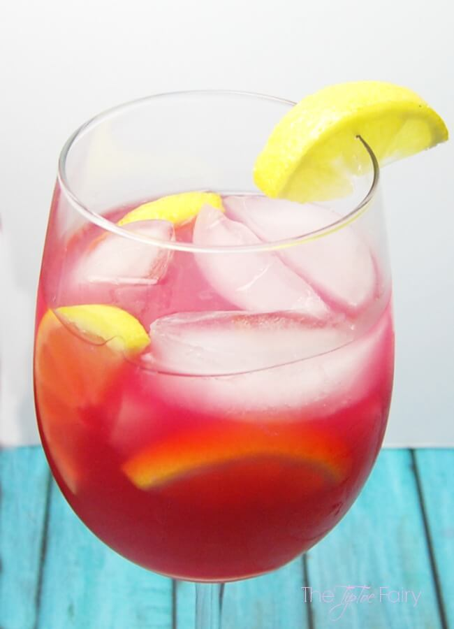 Ikea Glass Cups Pomegranate Lemonade | The Tiptoe Fairy
