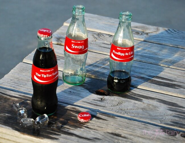 Share a Coke - order personalized 8-oz glass bottles of Coke! @CocaCola #ShareACoke #ad | The TipToe Fairy