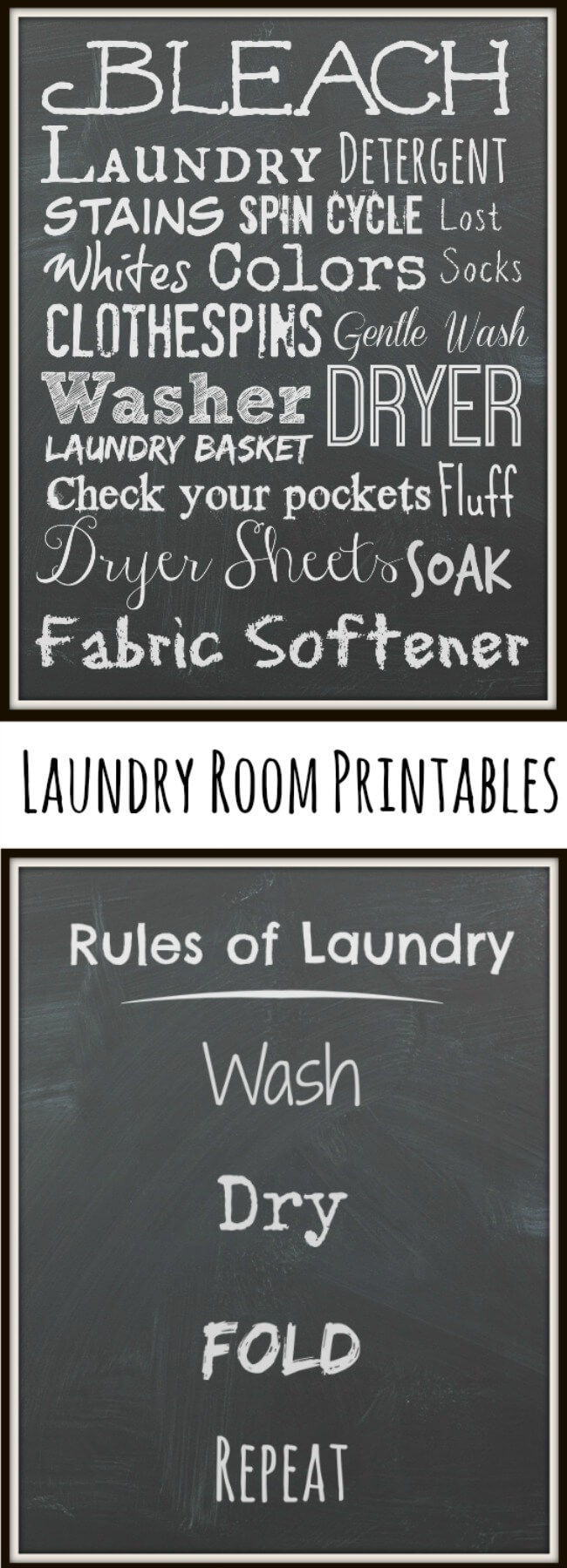 P&G Free & Clean Laundry Products - for sensitive skin. FREE Chalkboard Laundry Printables! #IC #ad #SecondSkincare | The TipToe Fairys