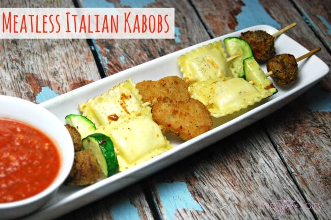 Meatless Italian Kabobs #GrillWithaTwist [ad] | The TipToe Fairy