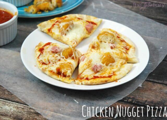 Chicken Nugget Pizza
