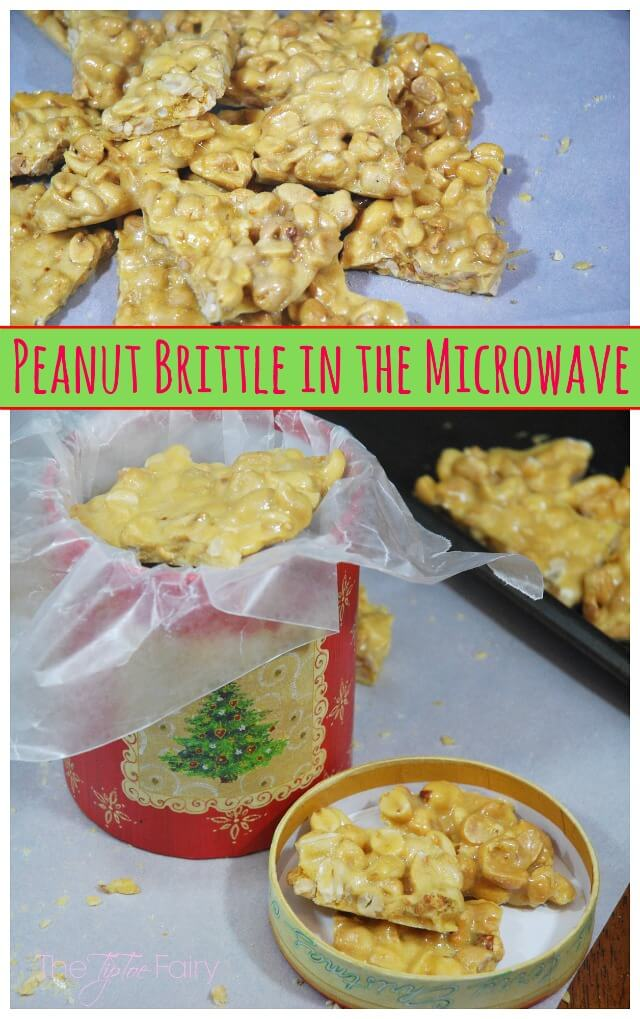Make Peanut Brittle in the microwave - great for a holiday gift & an IBS-friendly recipe! #ad #VSL3KnowtheDifference | The TipToe Fairy