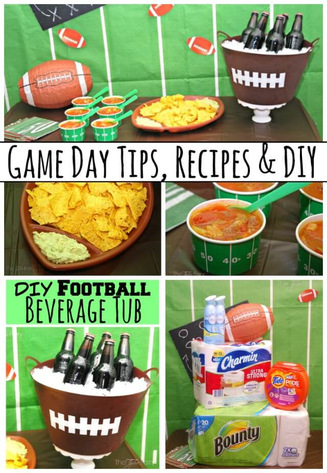 Find what you need for these #Recipes & #DIY @Walmart w #GameDayTraditions @ProcterGamble #food #craft #ad