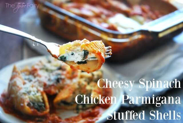 Cheesy Spinach Chicken Parmgiana Stuffed Shells #WinnerWinnerPerdueDinner #Contest AD #food