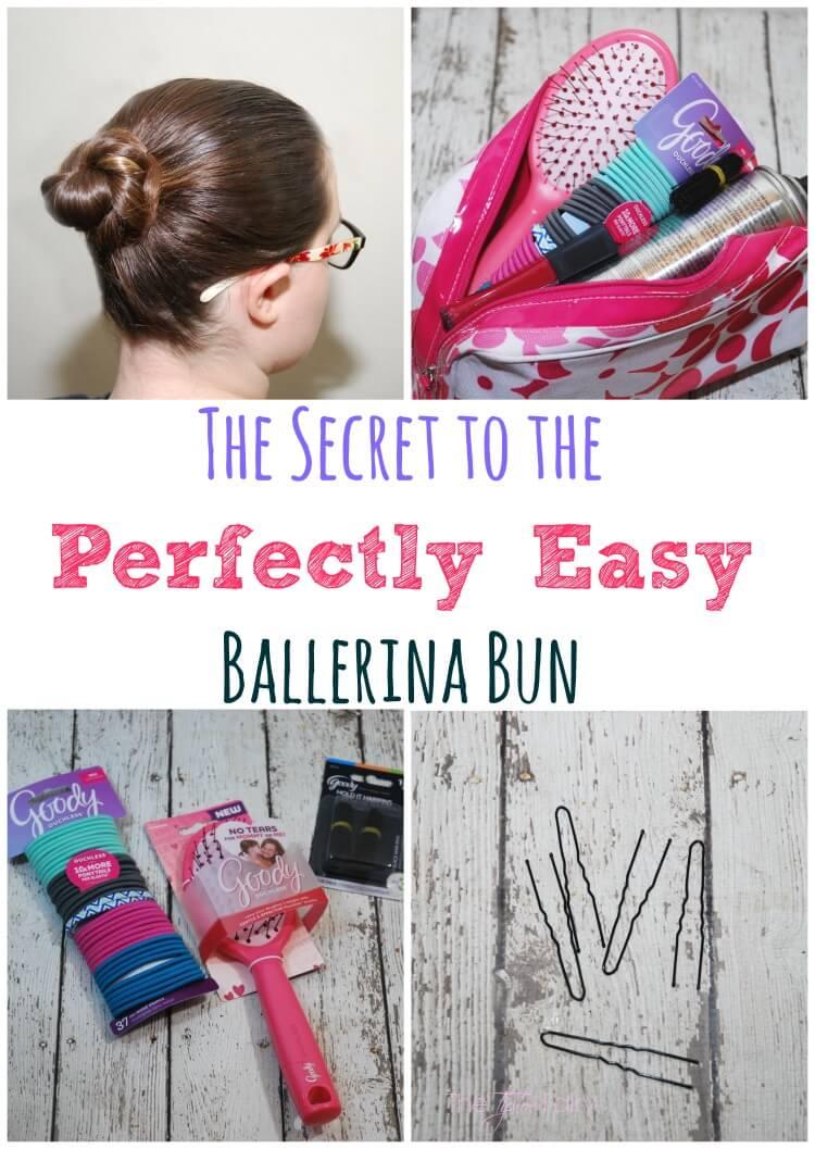 Learn My Secret to an Easy Ballerina Bun AD #GoodyStyle #hair #tutorial