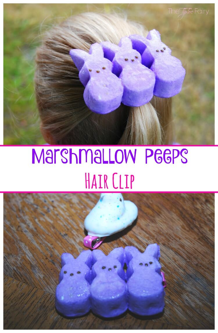 #DIY Marshmallow Peep Hair Clip for #Easter & Target gc #Giveaway #bloghop