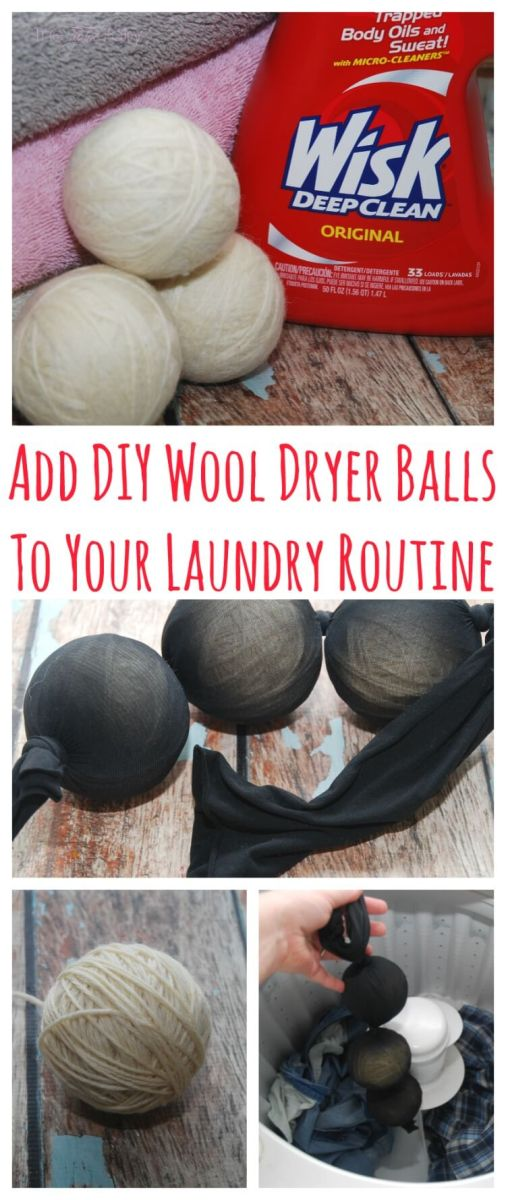 DIY Wool Dryer Balls with Wisk