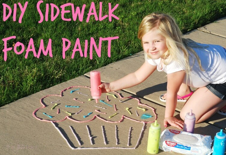 DIY Sidewalk Foam Paint