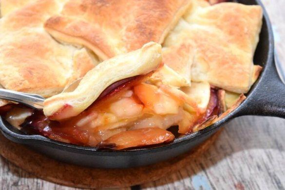 apple-plum-skillet-cobbler-4
