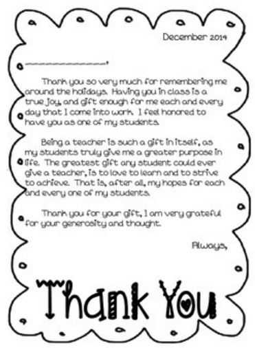 Efficiency, Efficiency, Efficiency Thank You Notes to Students
