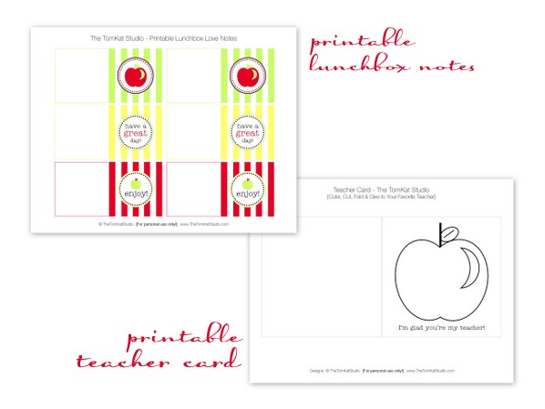 HGTV} Free Printable Back to School Lunchbox Love Notes! The