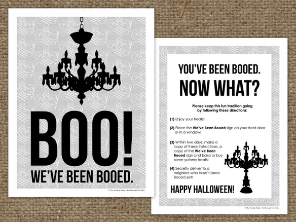We Got Booed! {Free Printable} The TomKat Studio Blog