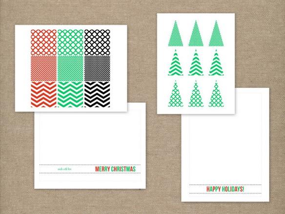 Christmas Card Tutorials + Free Printables {HGTV} The TomKat