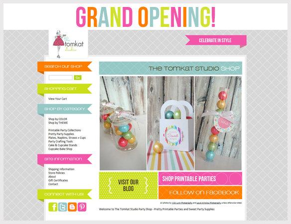 Grand Opening  The New TomKat Studio Shop! The TomKat Studio Blog