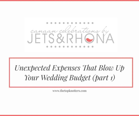 Unexpected Expenses That Blow Up Your Wedding Budget (part 1)