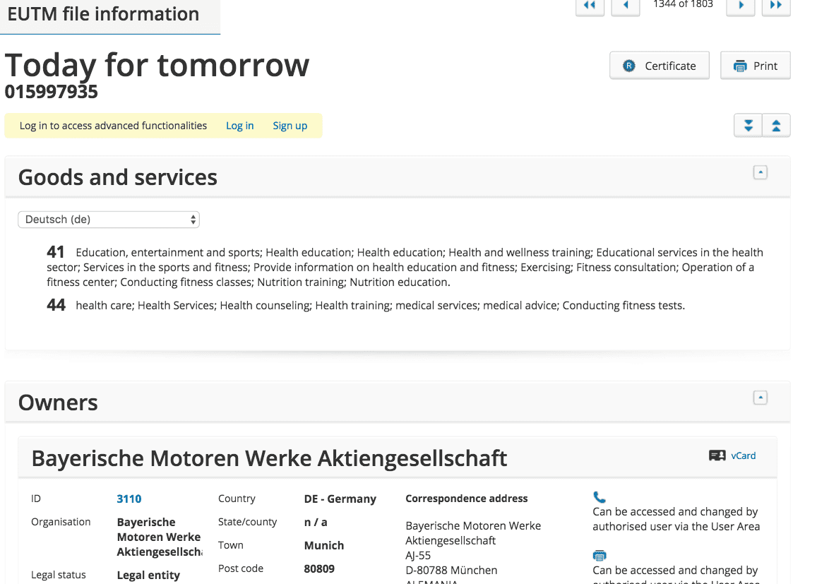 Bmw Have Applied For A Trademark For Today For Tomorrow In The Eu