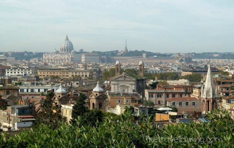 View of Rome from Villa Medici