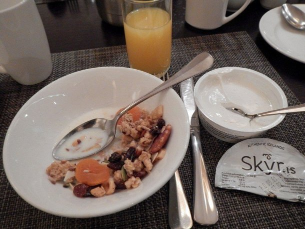 Icelandic breakfast with skyr