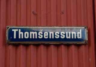 Reykjavik Street Sign Thomsenssund