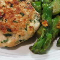 Chicken Burgers with Asian Greens