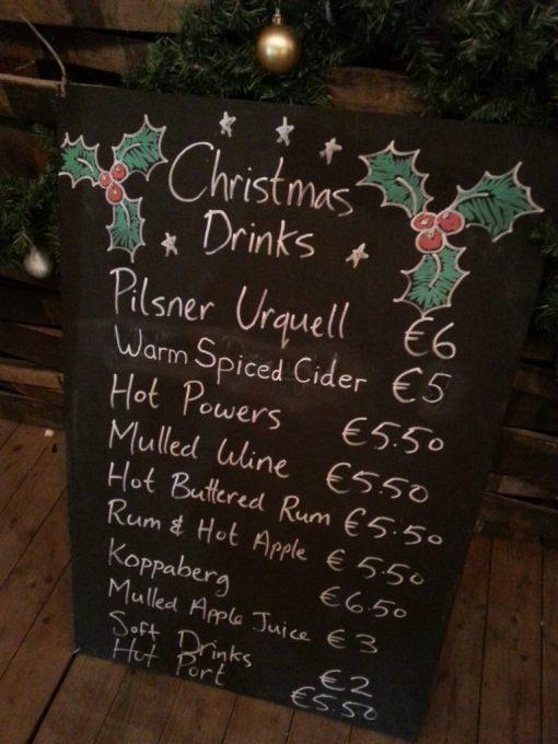 Christmas Drinks Menu