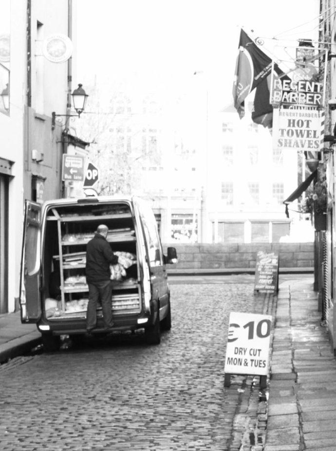 Bread man, Temple Bar, Dublin