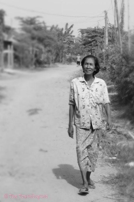 Woman Walking, outside Phnom Penh