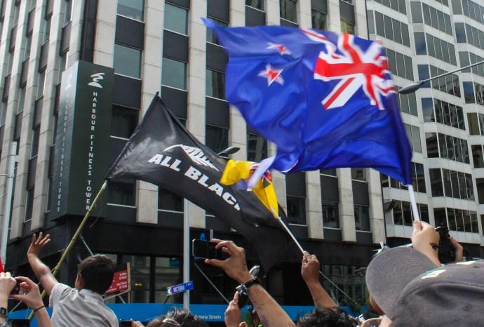 New Zealand Flags at the Vitcory Parade